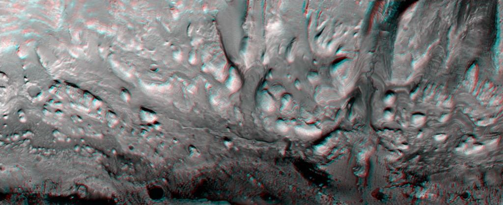 Montículos supervivientes a la erosión. NASA/JPL/UA.