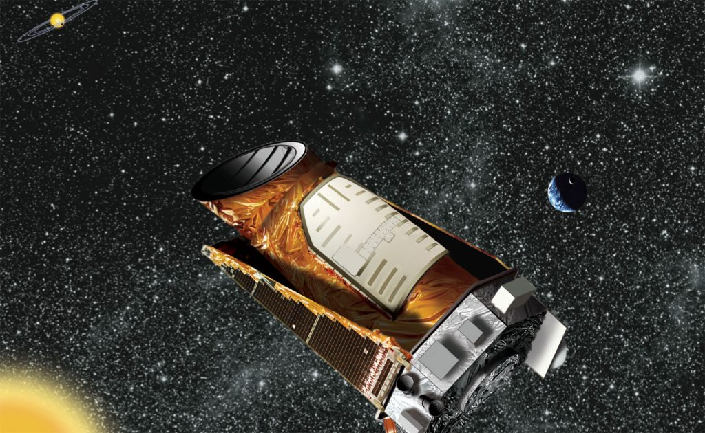 Una recreación de la misión Kepler. NASA.