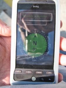 Imagen de Compass con el movil mirando al N