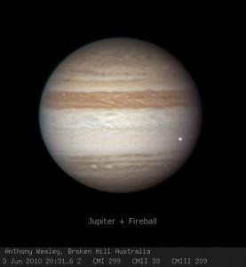 Flash en Júpiter el día 3 de Junio de 2010. Créditos: Anthony Wesley