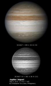 Flash en Júpiter el día 3 de Junio de 2010. Créditos: Christopher Go
