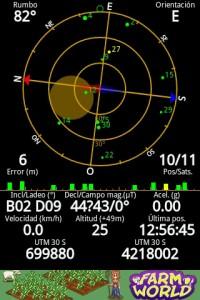 Captura del GPS Status