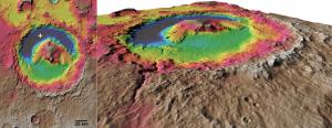 Topografia del cráter Gale. DLR.