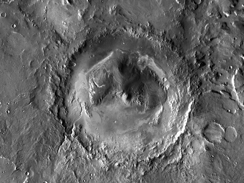 Cráter Gale. NASA/JPL-Caltech/ASU.