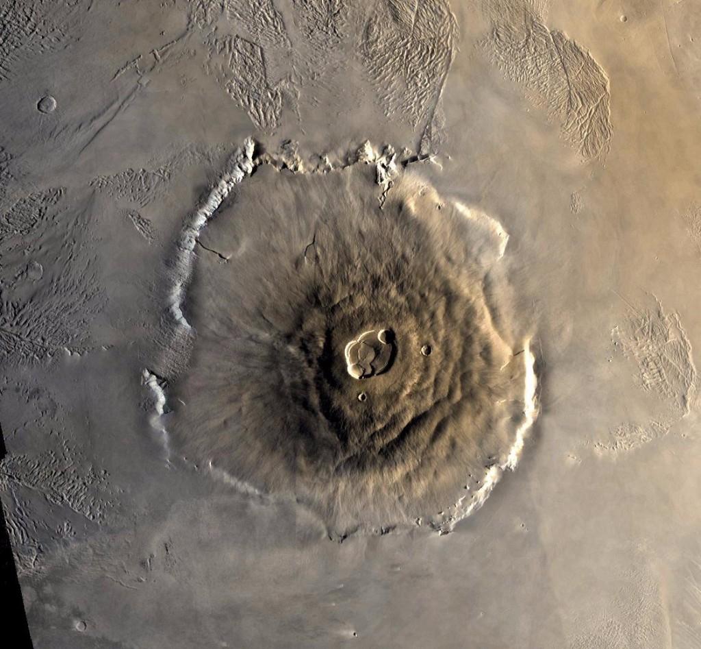 Olympus Mons, el volcán más alto del Sistema Solar. NASA