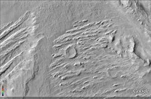 Cráter Invertido en el interior del cráter Gale. NASA/JPL/University of Arizona.