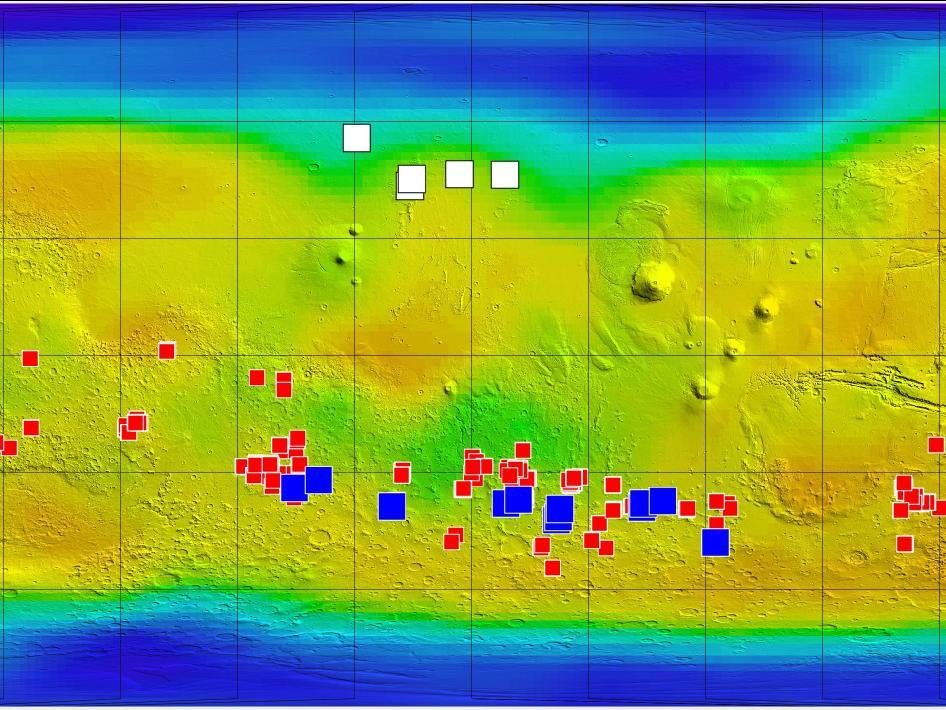 Hielo, Sal y agua en la superficie de Marte. NASA/JPL-Caltech/ASU/UA/LANL/MSSS.