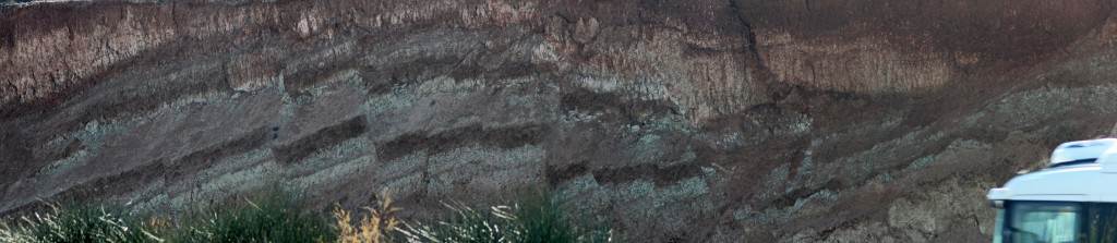 Faulted Quaternary lacustrine sediments in Granada Basin