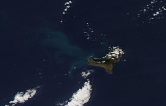 Imagen de El Hierro tomada por el satélite Aqua el día 20/11/11. NASA.
