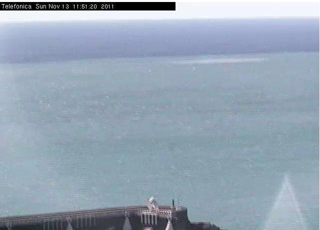 Imagen de la webcam de La Restinga a las 11.50 GMT del 13/11/11