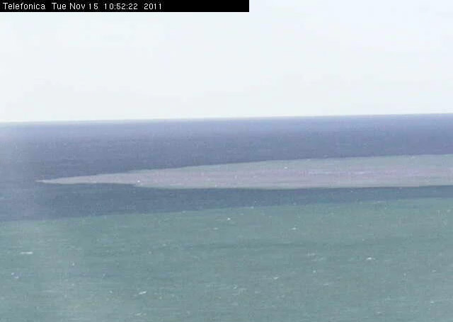 Imagen de la webcam a las 10.52 GMT de hoy. Observese lo definida que se puede apreciar la mancha.