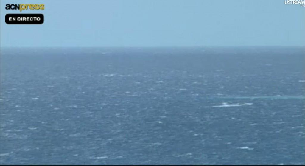 Mancha visible en la parte derecha de la imagen, a las 12:00 GMT del día 22 de Noviembre. ACN.