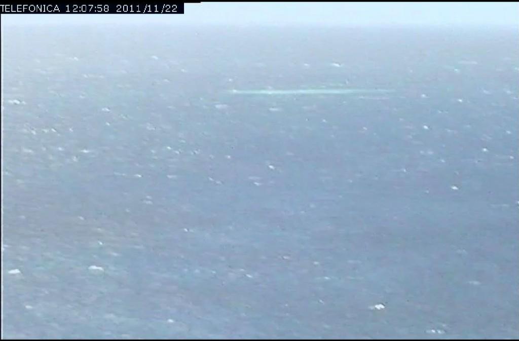 Mancha visible en la parte central/derecha de la imagen, a las 12:00 GMT del día 22 de Noviembre. Telefónica.