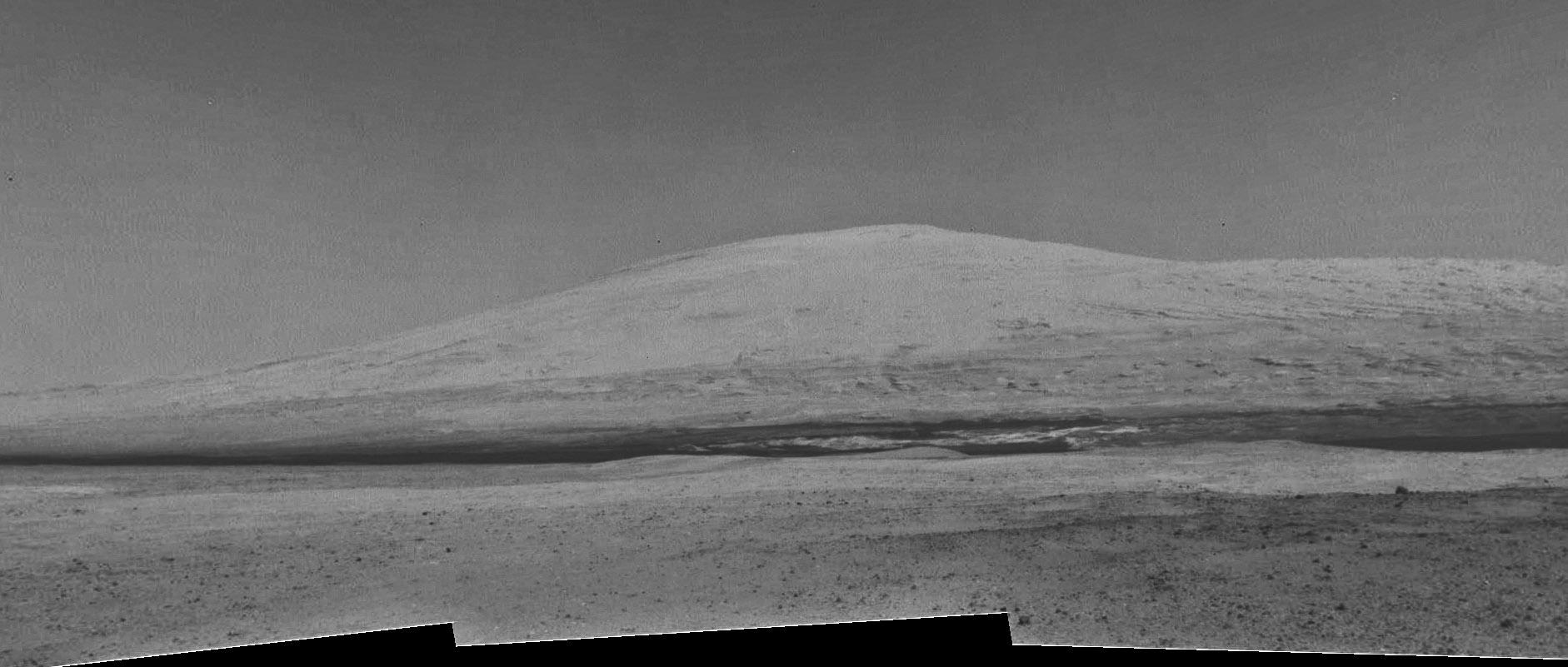 Panorama de la NavCam izquierda tomada durante el Sol 12. NASA/JPL-Caltech