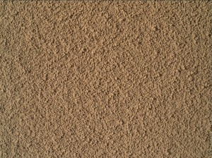 Imagen de MAHLI de la arena de la rizadura de Rocknest. NASA/JPL.