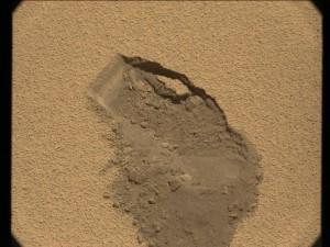 Imagen del lugar donde se ha tomado la muestra, visto a través de la MastCam derecha. NASA/JPL.