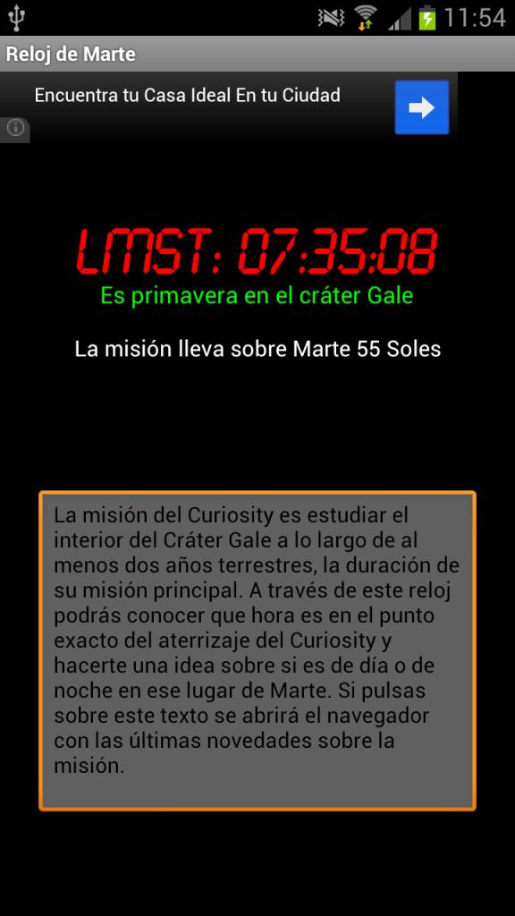 Reloj de Marte.