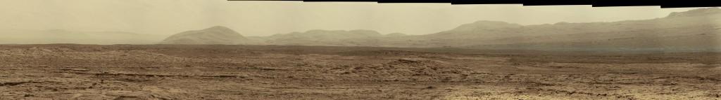 Detalle del panorama tomado por la MastCam derecha en el Sol 51. NASA/JPL.