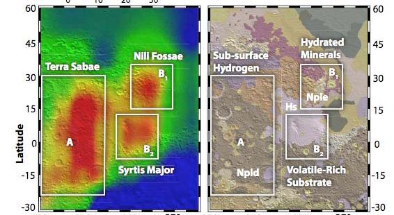 Una de las zonas localizadas con gran concentración de metano en la atmósfera presentada durante la LPSC del año 2010.