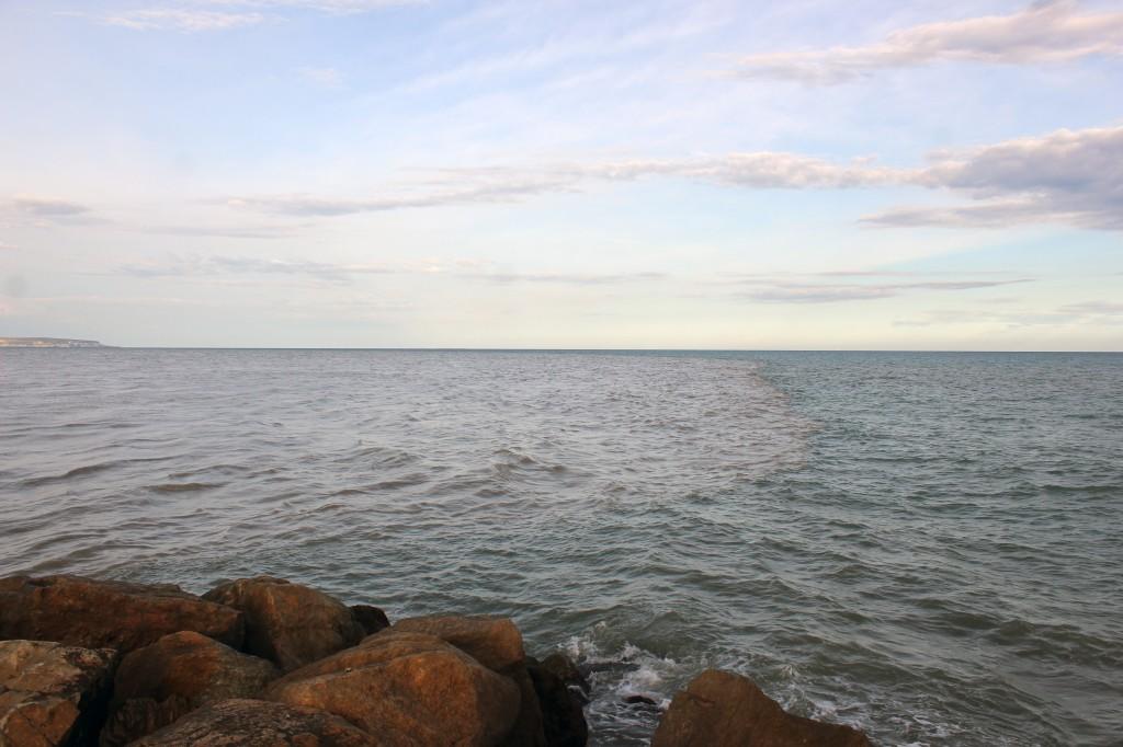 Perspectiva de los sedimentos en suspensión en la desembocadura del río Segura el pasado día 29 de Septiembre.