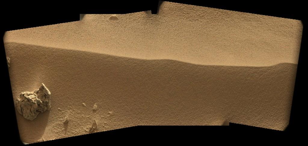 La rizadura eólica vista por la MastCam izquierda en el Sol 56. NASA/JPL.
