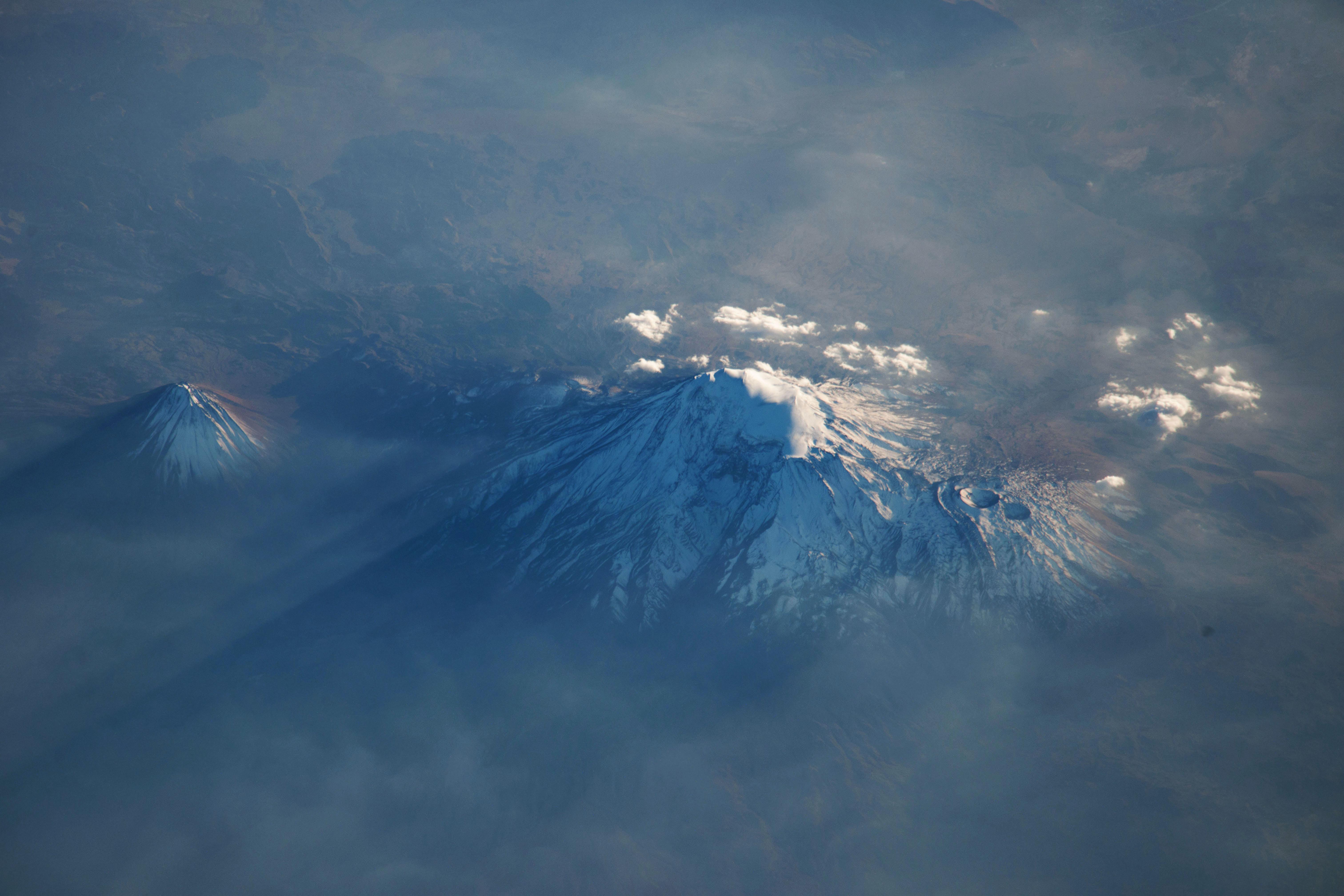 El monte Ararat desde la Estación Espacial Internacional el pasado 16 de Octubre.