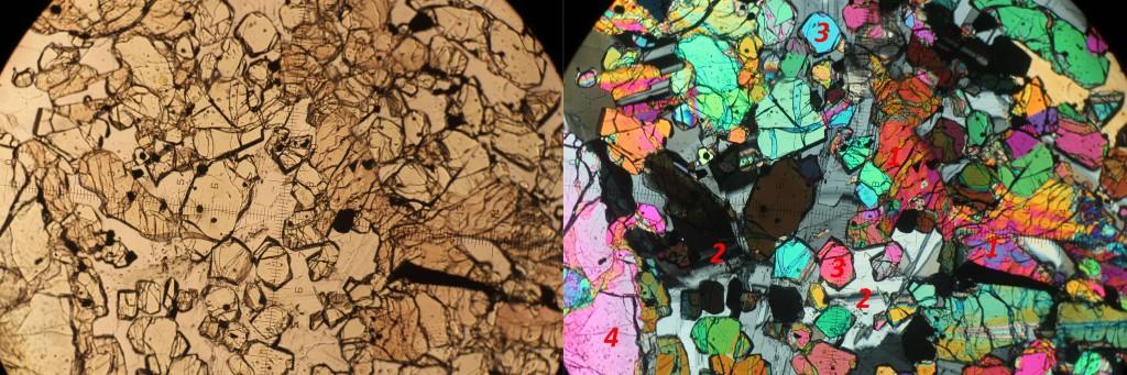 El basalto 12005 al microscopio.