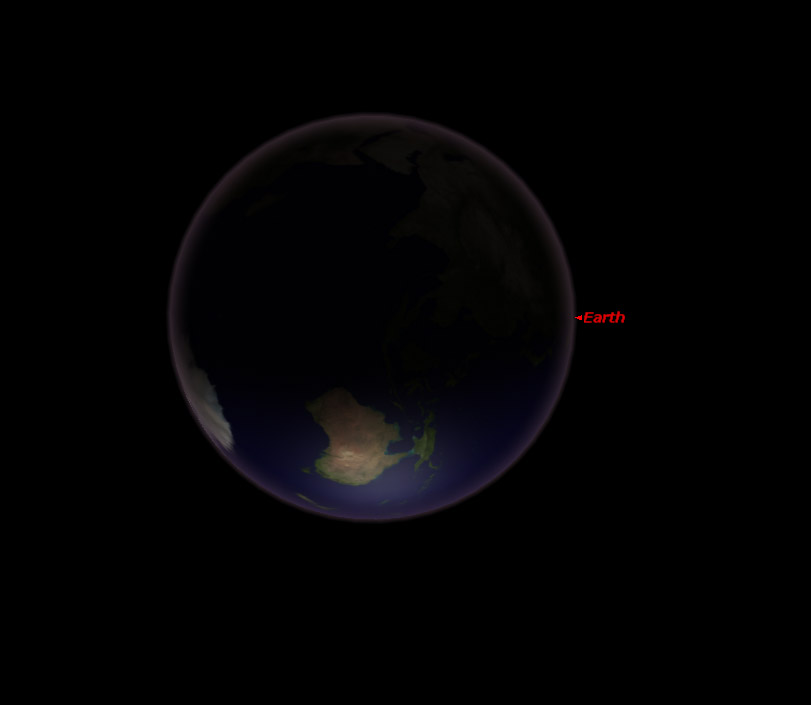 Así se veía la Tierra desde Marte cuando el Curiosity tomó la imagen.
