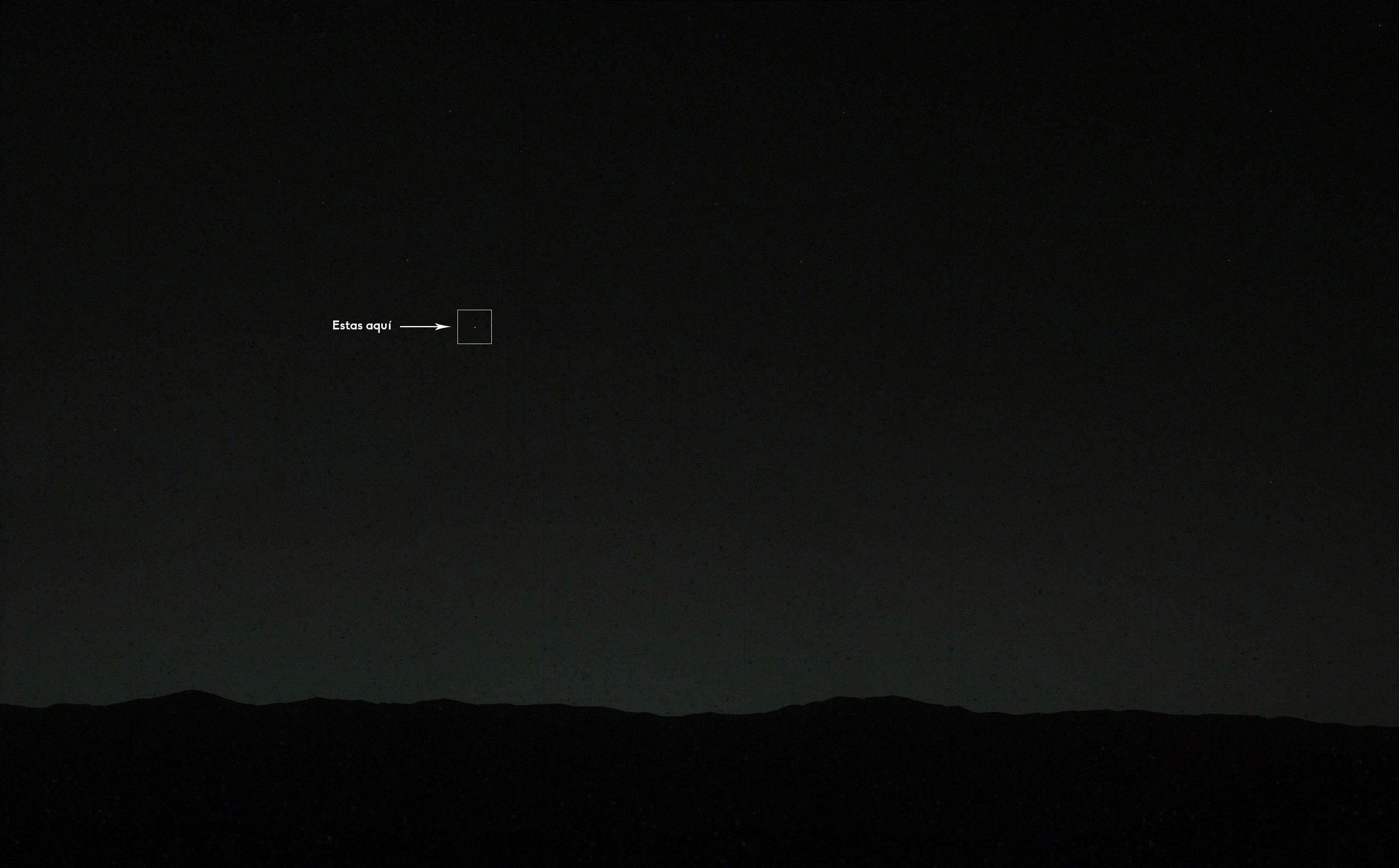La Tierra, observada durante la puesta de Sol marciana el pasado día 31 de Enero. NASA/JPL/MSSS/Nahúm Méndez Chazarra.