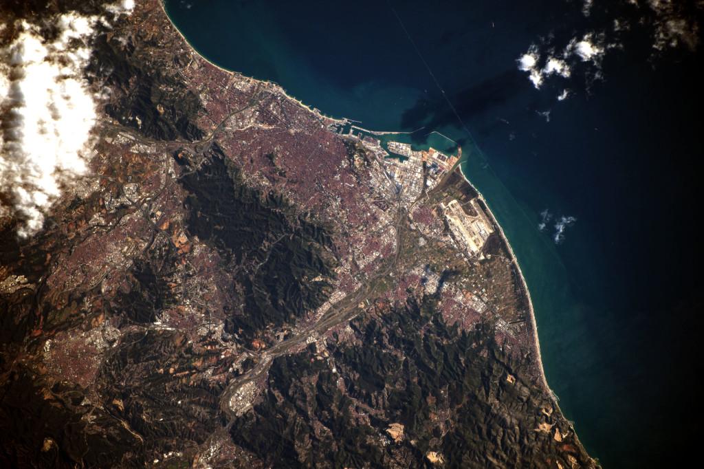 Barcelona desde la ISS el pasado día 28 de Diciembre. NASA.