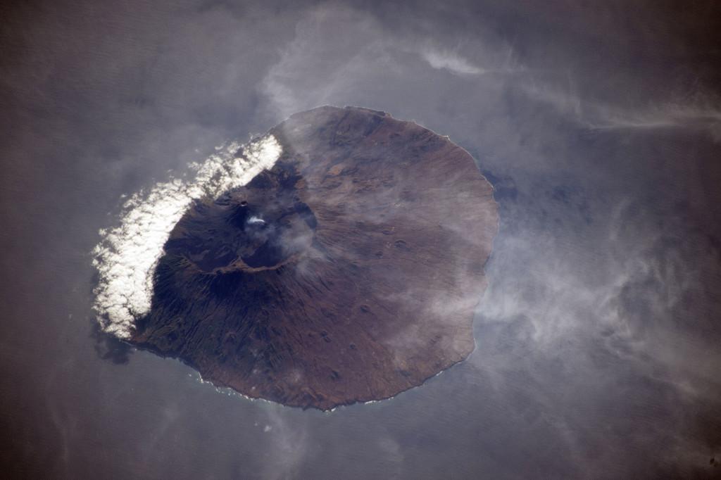 La isla de Fogo (Cabo Verde) desde la ISS el pasado día 18 de Diciembre. NASA.