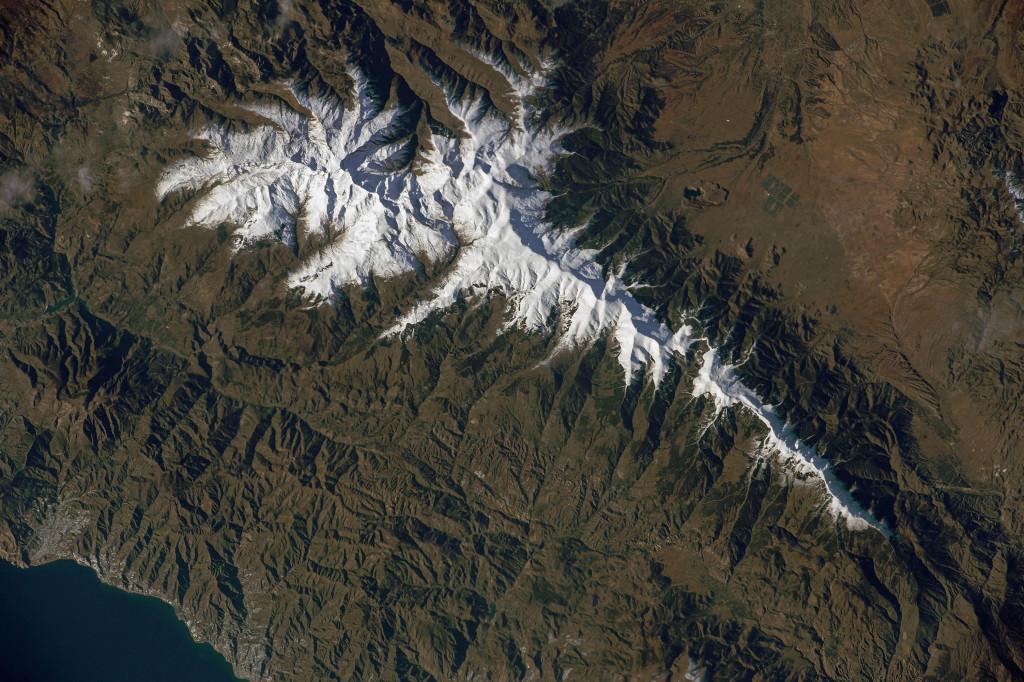 Sierra Nevada desde la ISS el pasado 18 de Diciembre de 2014. NASA.