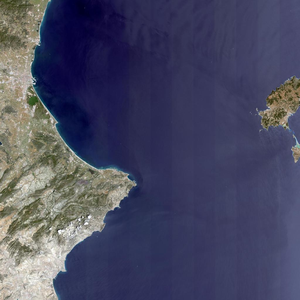 Mira con detenimiento esta imágen, ábrela. NASA/Landsat.