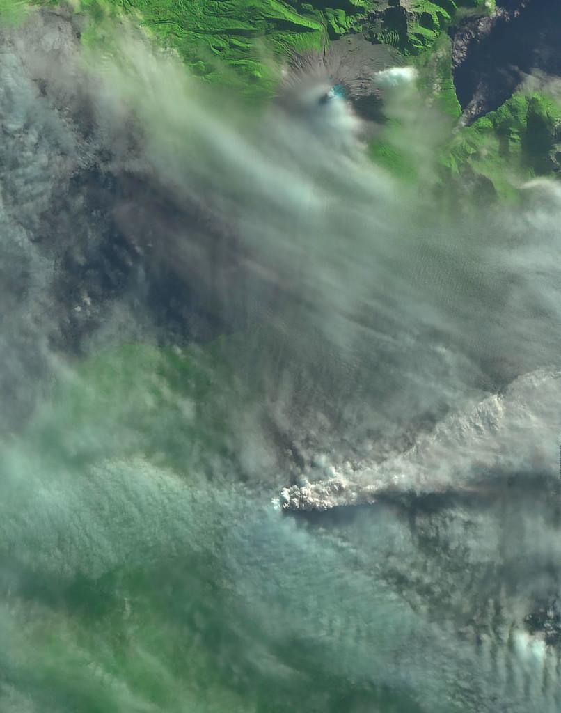 Imagen del Cabulco tomada por el EO-1 el día 25 de Abril. NASA.