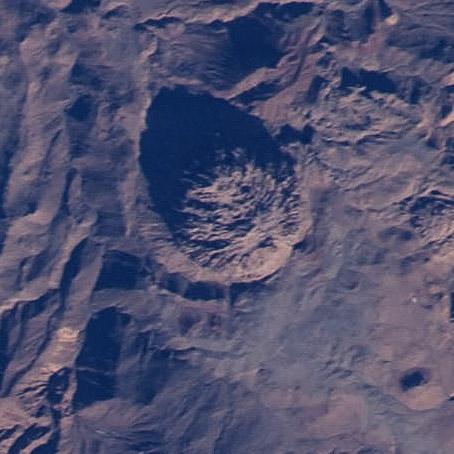 Un domo de lava en las proximidades del Emi Koussi. NASA.