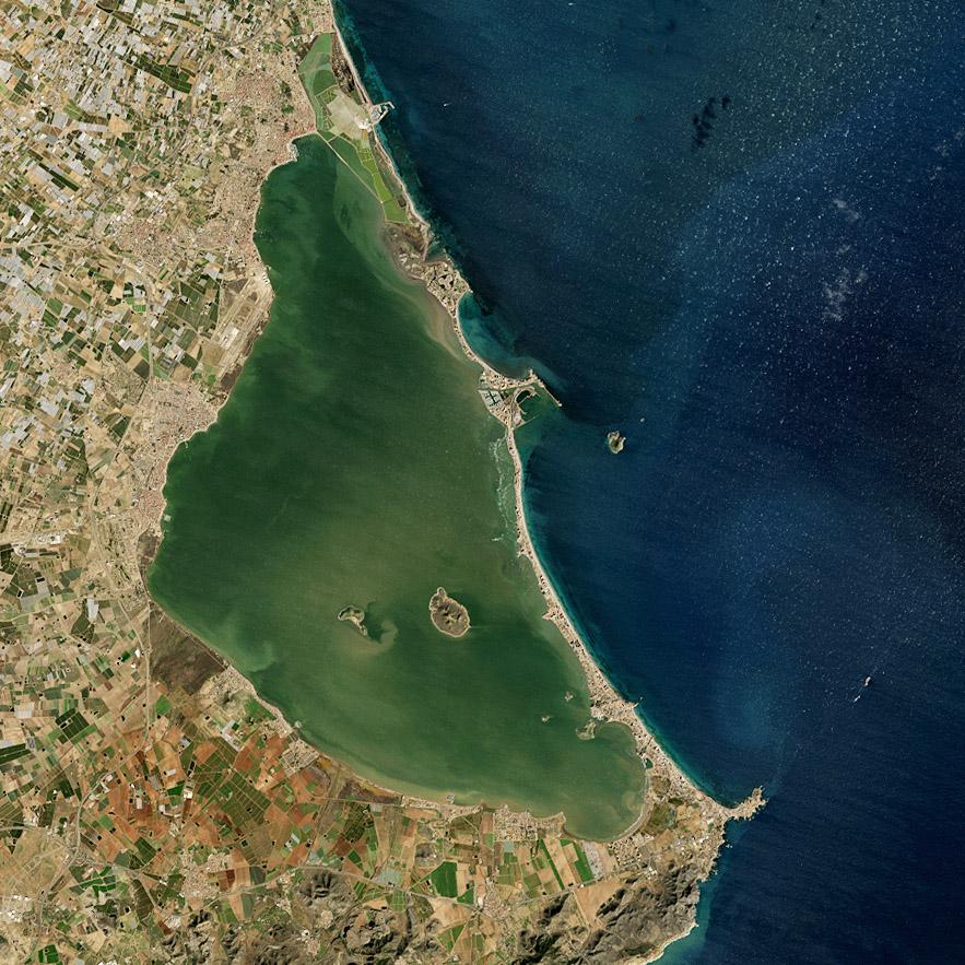El Mar Menor, visto desde el Landsat 8. NASA/USGS.