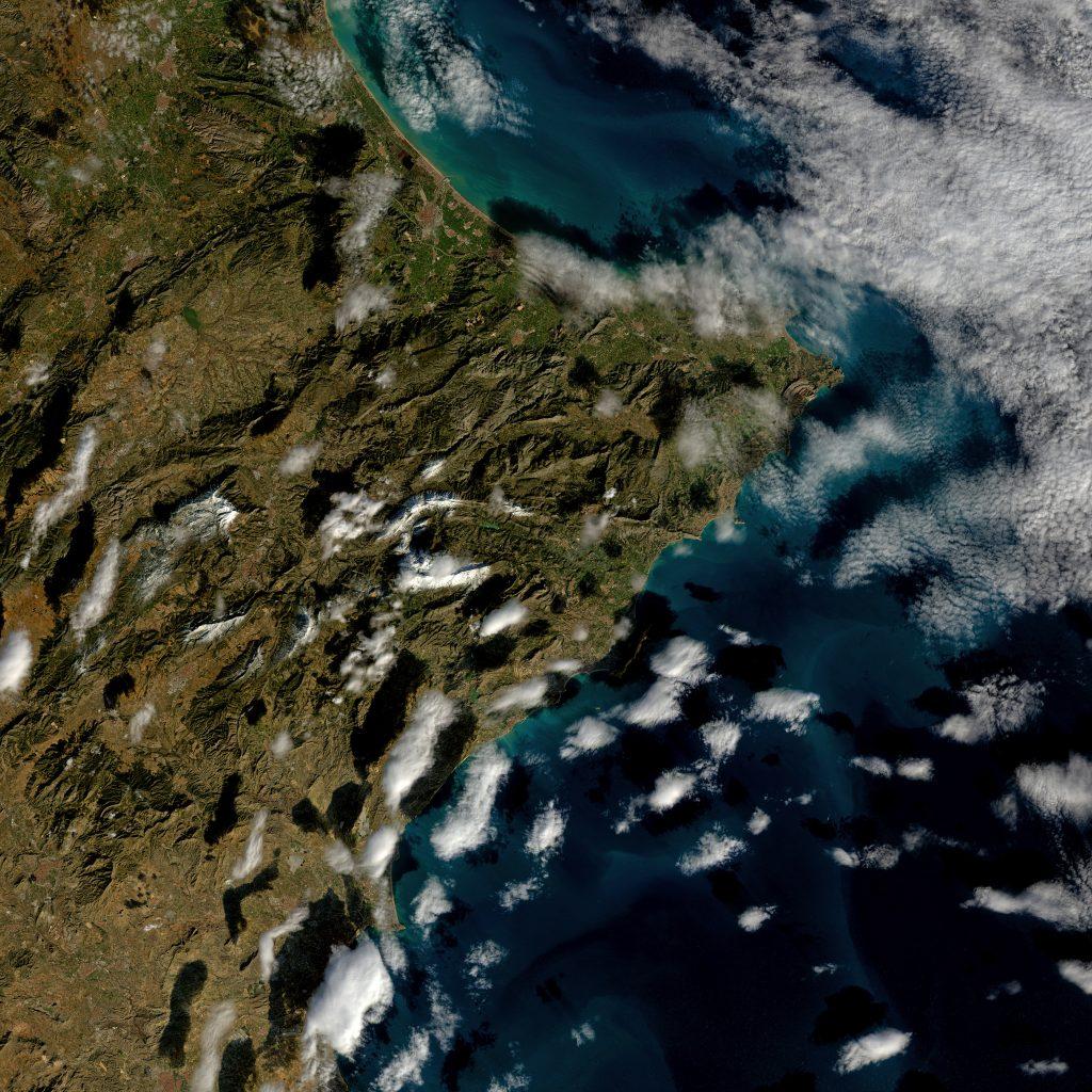 Imagen de la provincia de Alicante tomada por el satélite Landsat 8 el día 28 de Enero de 2017. NASA/USGS.