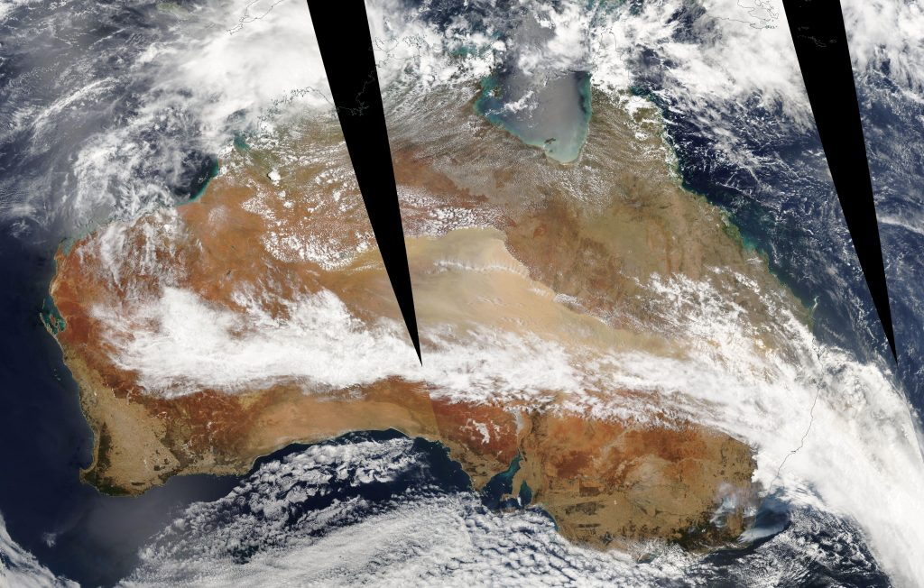 Imagen tomada por el satélite Aqua de la NASA el día 11/01/2020. NASA.