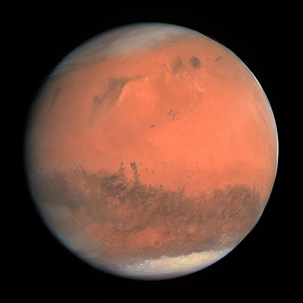 Marte, fotografiado por la Rosetta en 2007.ESA/MPS/UPD/LAM/IAA/RSSD/INTA/UPM/DASP/IDA.