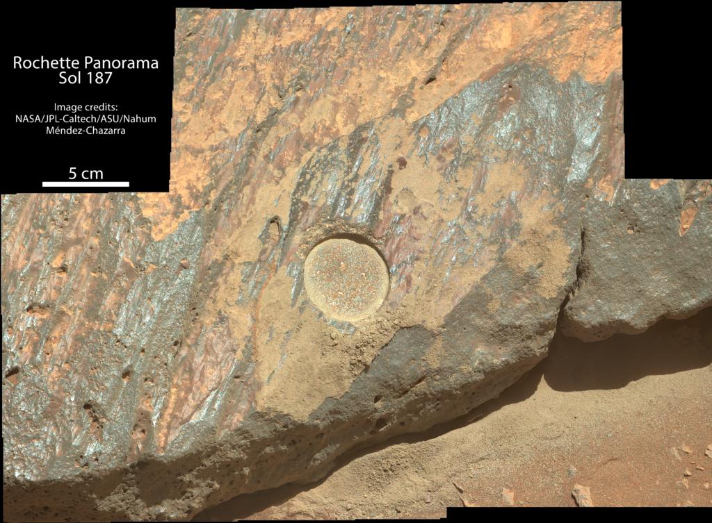Panorama de Rochette tomado por el Perseverance durante el Sol 187. Imagen: NASA/JPL-Caltech/ASU.